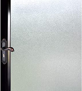 DUOFIRE Privacy Window Film Natural Frosted Glass Film Static Cling Glass Film No Glue Anti-UV Window Sticker Non Adhesive for Privacy Office Meeting Room Bathroom Living Room 47.2in. x 78.7in. S001