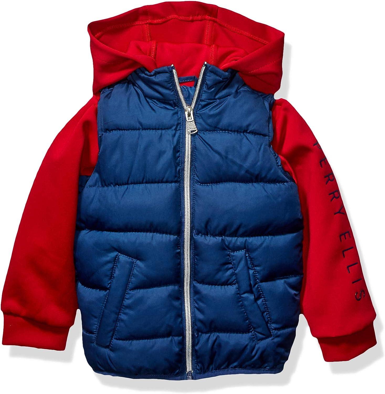 Sale special price Perry Ellis Boys' Vest Hood W Neoprene Sleeves online shop