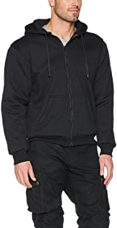 CrossFire Black Motorcycle Hoodie FULLY Reinforced With Protective Aramid Fibers Removable Armor - by Busa