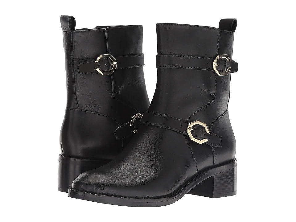 Cole Haan Leela Grand Moto Boot (Black Leather) Women