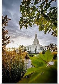 GREATBIGCANVAS Poster Print Idaho Falls Idaho Temple, Through The Trees, Idaho Falls, Idaho by Scott Jarvie 24