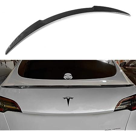 Fit Tesla Model Y Spoiler Wing Sport Cars Rear Spoiler Car Styling Kits for Tesla Model Y Accessories Carbon Fiber Pattern