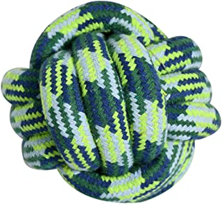 HOUZE Pet Toys Knotted Ball, Small, Blue