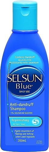 Selsun Blue Replenishing Anti-dandruff Shampoo, Fights Dandruff While Keeping Your Hair Feeling Soft, 200ml