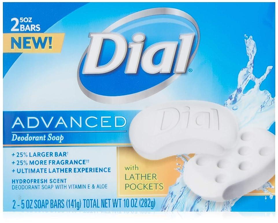 提案する明確に適性Dial 高度なデオドラントソープバーHydrofresh香り、10オズ
