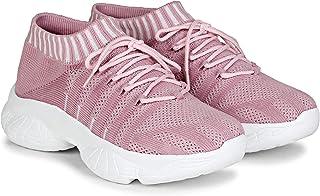 LOVEHUSH Women's Shoes White Chunky Sneakers for Girls Stylish…