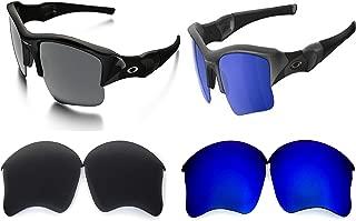 Galaxy Replacement lenses For Oakley Flak Jacket XLJ Sunglasses Polarized Black/Blue