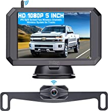 """Wireless Backup Camera HD 1080P with 5"""" Monitor Hitch Rear View Camera for Trucks,Camper,Car,SUV Super Night Vision Easy I..."""