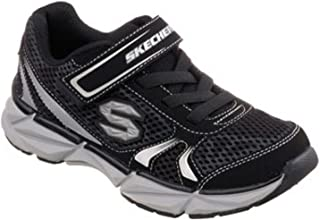 Skechers Boy's Geo-Daunt Athletic Sneakers (12, Black/Silver)
