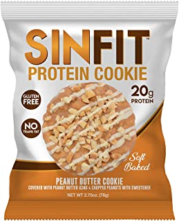 SinFit (Sinister Labs) Soft Baked High Protein Cookies,Peanut Butter Cookie,20g Protein, Gluten Free, Whey Protein (2.75 Oz - 10 Count - packaging may vary)