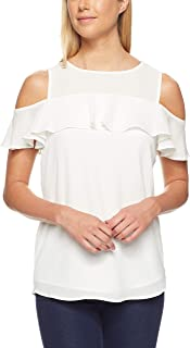 Calvin Klein Women's Cold Shoulder Blouse