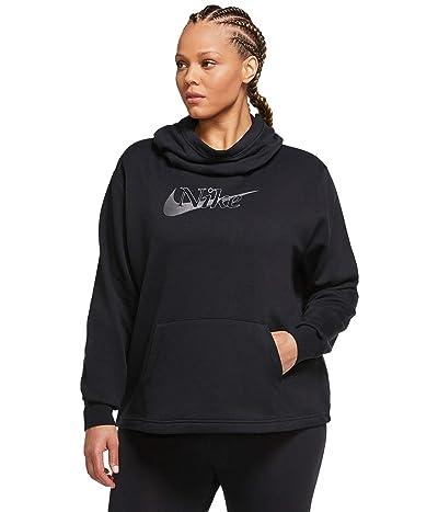 Nike NSW Icon Clash Funnel Fleece (Black/Black/Metallic Silver) Women