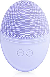 EZBASICS Facial Cleansing Brush made with Ultra Hygienic Soft Silicone, Waterproof Sonic Vibrating Face Brush for Deep Cle...