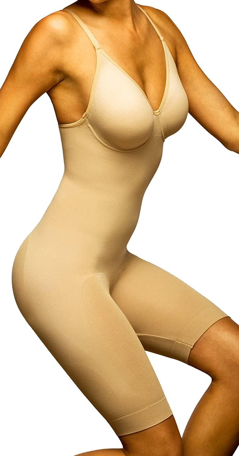 Body Wrap Women's Long Leg Bodysuit,Nude,XLarge