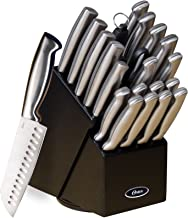 Gibson Oster 70562.22 Baldwyn 22-Piece Cutlery Block Set, Brushed Satin - Silver
