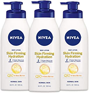 NIVEA Skin Firming Hydration Body Lotion 16.9 fl oz (Pack of 3)