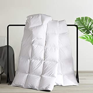 Maple Down Superior White Comforter, Down Alternative Comforters for All Season with Cotton Soft Shell, Hotel Quality Duvet Insert, 68 x 90 inches, Twin Size.