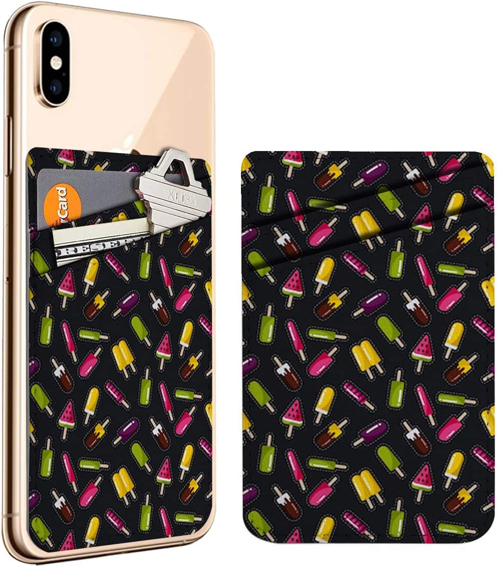 Popsicles Direct store On Cell Phone Stick store ID Holder Leather Credit Card