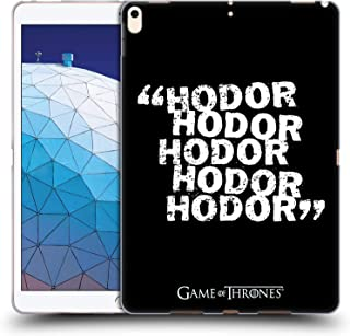 Official HBO Game of Thrones Quote 2 Hodor Soft Gel Case Compatible for iPad Air (2019)