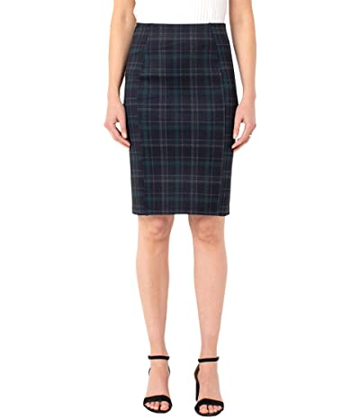 Liverpool Reese Pull-On Skirt (Black Evergreen) Women