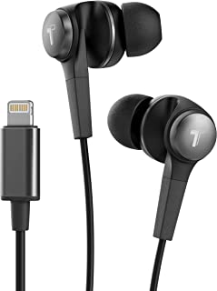 Thore Earbuds with Microphone for iPhone MFi Apple Certified Headphones with Lightning Connector, Wired in Ear Earbuds for...