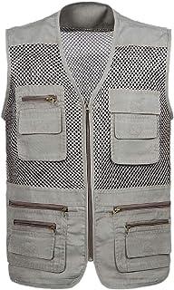 Mens Multi Pockets Outdoor Work Fishing Travel Photo Vest