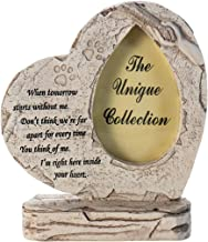 JSYS Paw Print Pet Memorial Stone, Heart Shaped with a Photo Frame, Indoor Outdoor Dog for Garden Backyard Marker Grave Tombstone, Loss of Pet Gift.