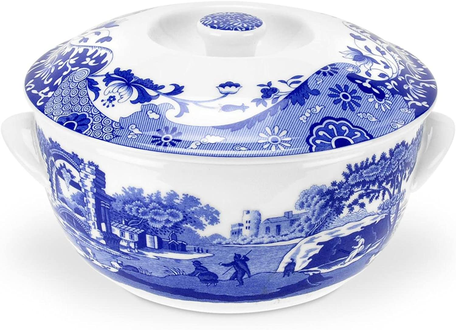 Spode bluee Italian Round Covered Deep Dish