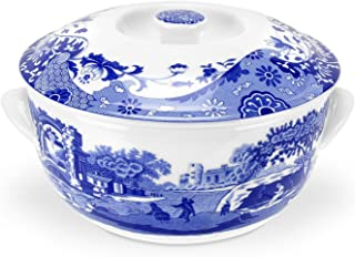 Spode Blue Italian Round Covered Deep Dish