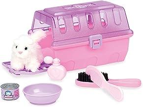 بازی دایره توسط Battat - Kit Grooming Kit - 7 قطعه بچه ها وانمود بازی گربه حامل و تنظیم گریم با لوازم جانبی - مجموعه حیوان خانگی مجموعه ای برای کودکان و نوجوانان سن 2 سال و بالاتر