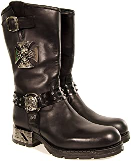 New Rock Mens Boots Biker Style MR030