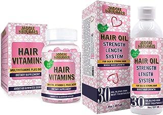 Jadole Naturals Hair Vitamins Gummies & Hair Growth Length System Set