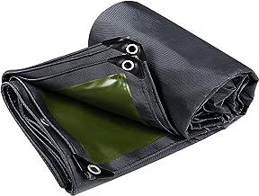 ZZYE Dekzeil Heavy Duty Tarpaulin Cover Zwart/Groen Multifunctioneel Tarps Gebruikt voor Outdoor Camping Tent Auto zonneze...