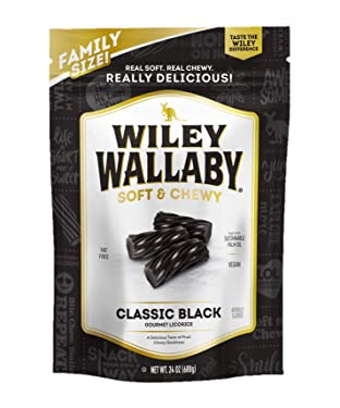 Kenny's Wiley Wallaby Regaliz, negro, 24 onzas