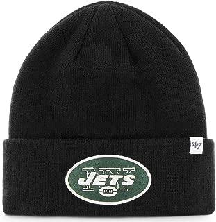 NFL New York Jets '47 Raised Cuff Knit Hat, Black, One Size