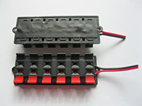 2 Pcs Red and Black 12-Way/Pin Speaker Terminal Board Connector Spring Loaded with Soldered Wire
