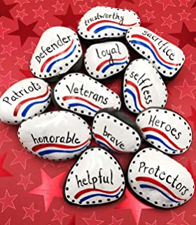 Best veterans day painted rocks Reviews