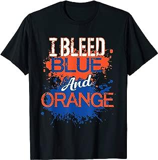 I Bleed Blue And Orange Fan Shirt Football Soccer Baseball
