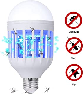 GLOUE E26 or E27 Bug Zapper Light Bulb 2 in 1 Mosquito Killer Lamp UV Led Electronic..