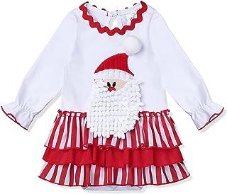 62a8f9bb294d4 TiaoBug Bébé Fille Body Justaucorps de Noël Tutu Robe Père Noël Coton Robe  Fête Baptême Combinaison