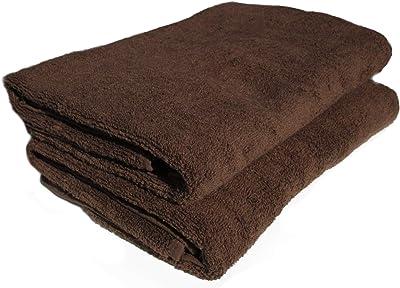 《ふんわり 柔らか やさしい肌触り》 無撚糸 バスタオル ブラウン 2枚組セット 《標準サイズ130×65cm 》BR2