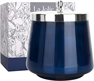 LA JOLIE MUSE アロマキャンドル ユーカリとイチジクの香り 75時間 350g キャンドル ギフト ガラスジャー