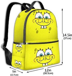 Classic School Backpack Spongebob Wallpaper Unisex College Schoolbag Travel Bookbag Black