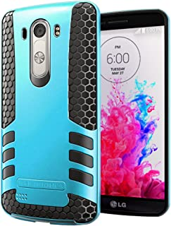 Hyperion Titan 2-piece Premium Hybrid Protective Case / Cover for LG Optimus G3 Cell Phone (Fits all LG Optimus G3 [Possible model numbers: D850, D830, VS985, D851, D972] US and International models and carriers)2 Year NO HASSLE Warranty - BLUE