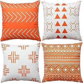 B537 Handmade pillow cover Unique Pillow Decorative Orange Pillow Design pillow Wool Pillow 20x20 inc Turkish pillow Tribal Pillow