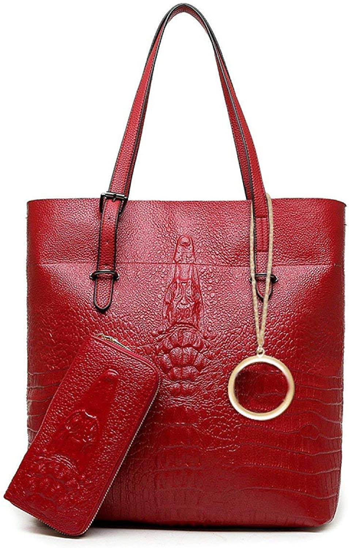 88130ec213de4 Willsego Damen Tasche Diagonal Bag Damen Damen Damen Handtasche  Schultertasche Zweiteilige Handtasche (Farbe Rot