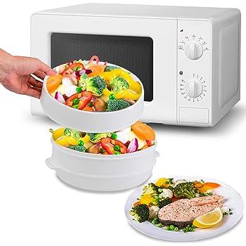MovilCom® - Olla a vapor 2 niveles Microvap | cocinar al vapor | vaporera microondas: Amazon.es: Hogar