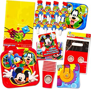 Mickey Mouse Party Supplies Ultimate Set (95 Pieces) -- Party Favors, Birthday