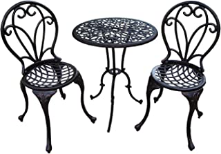 Oakland Living Grace 3 Piece Bistro Set, Antique Bronze