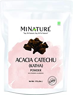 mi nature Natural Katha Powder - Acacia Catechu Powder | 227g / 8oz/ 0.5 lb | For conditioning of hair | Hair Mask | Nothi...